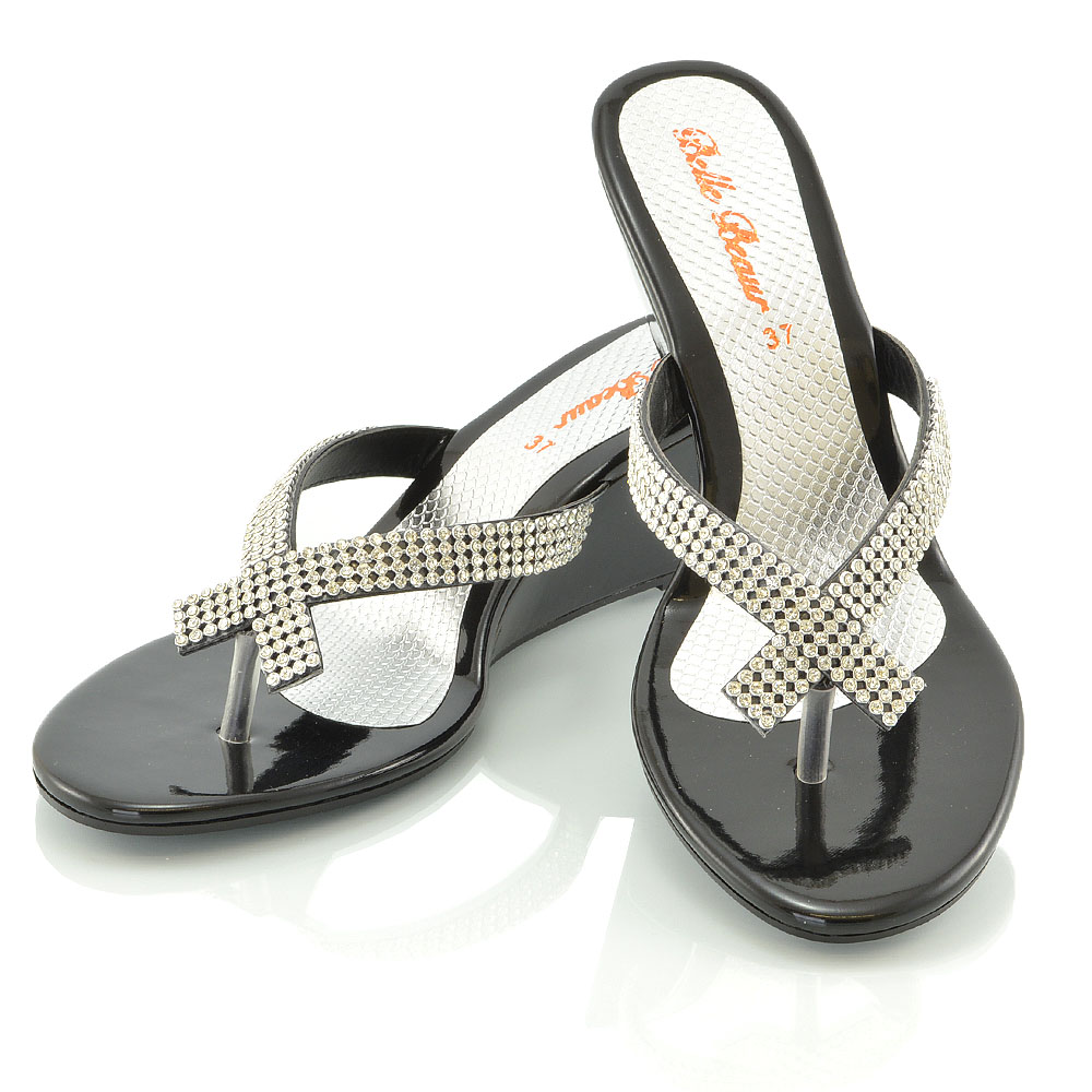 Ladies Dressy Silver Shoes