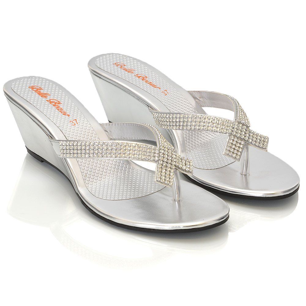 Womens silver sandals size 6