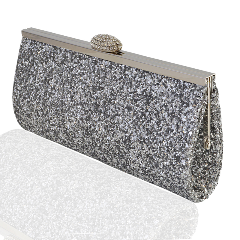 2018 Women Bling bags Gold & silver box clutch evening ...  Formal Gold Clutches