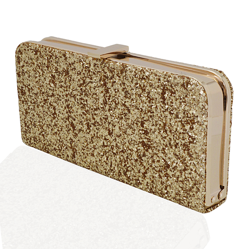 Womens Glitter Clutch Bag Sparkly Silver Gold Black Evening Bridal Prom Party Uk Ebay