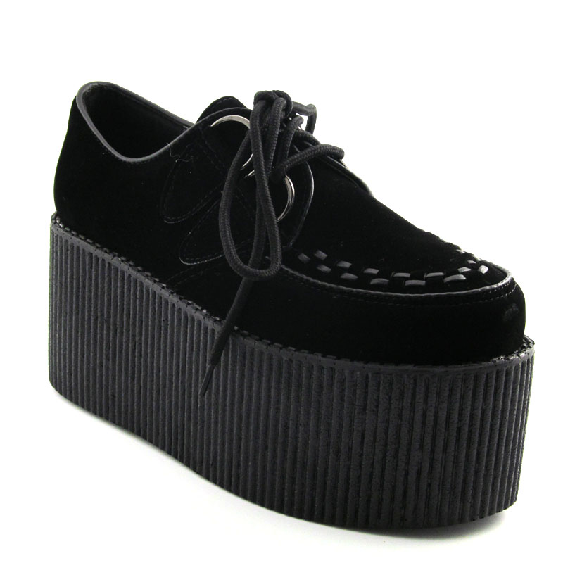 8f75c417546b4 Details about Ladies High Platform Womens Trendy Retro Flat Triple Creeper  3