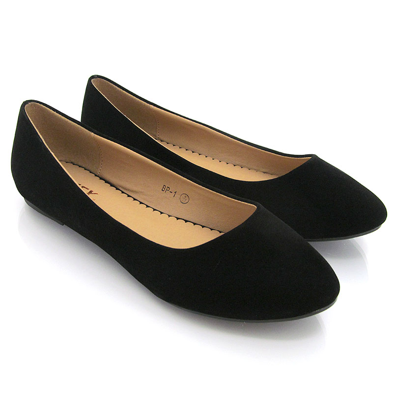 Flat Shoes Black And Gold
