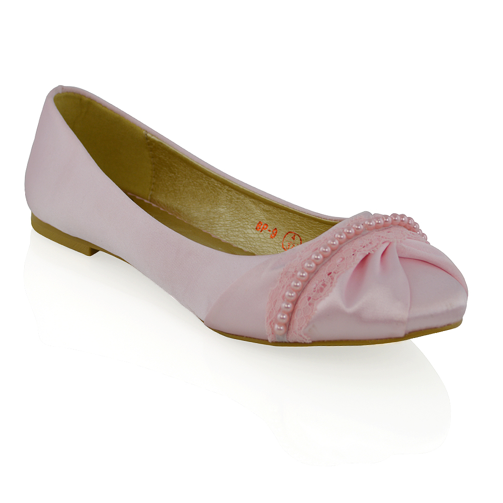 Flat Wedding Shoes Pink