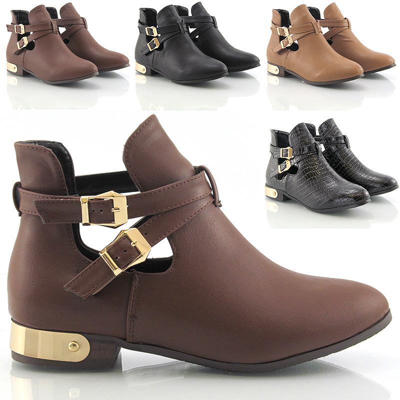 Brown Buckle Shoes Ladies