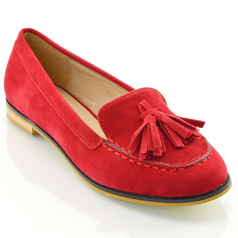 a0ebdf7ccbffd Ladies Tassel Loafers Womens Casual Vintage Flats Work Office School Shoes  | eBay