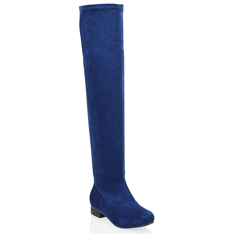 womens knee thigh high the knee flat low heel