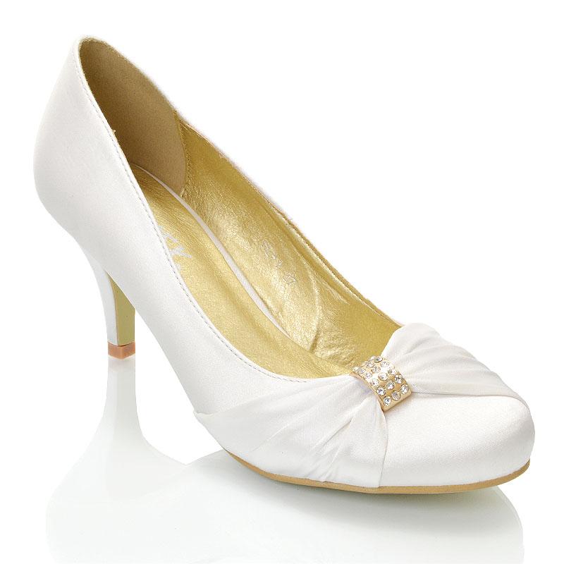 Womens Bridal Shoes Low Heel Stiletto