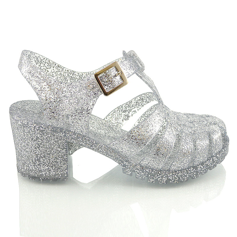 5b10c0d1e6a4 ... JH-1 Clear Jelly beach holiday gladiator silver glitter size 3 4 5 6 7  8.jpg ...