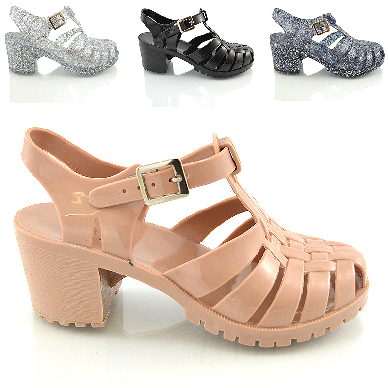 685f4f300b6a ... JH-1 Ladies womens Jelly low heel sandal gladiator vintage jelly rubber sandals  shoes size 3 4 5 6 7 8.jpg ...