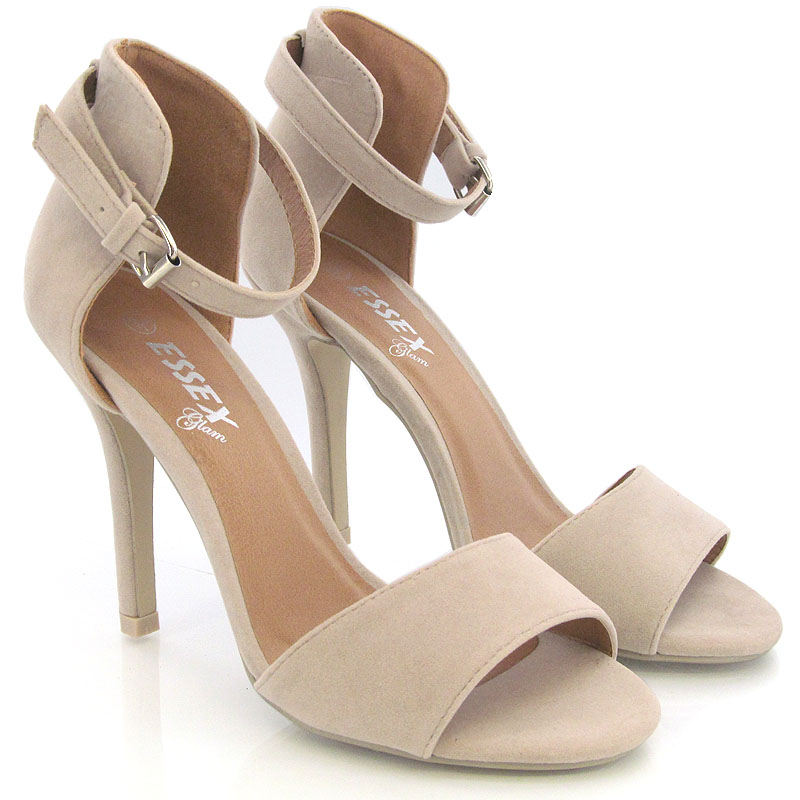 New Womens Stiletto Sandals Ladies Ankle Strap High Heel Sandal ...