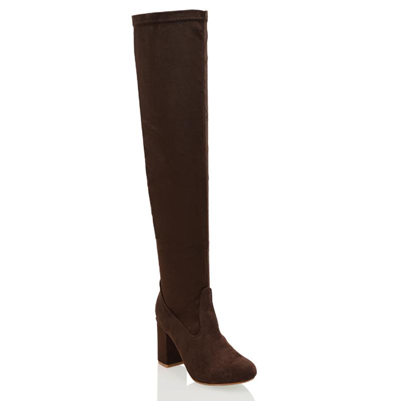 new womens the knee high block mid heel