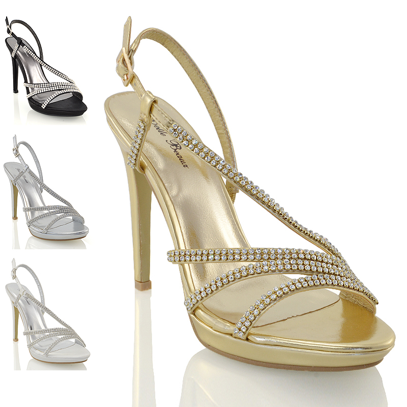 Femme À Lanière Talon Bloc Sandales avec brides à boucle Prom Party Chaussures 3-8