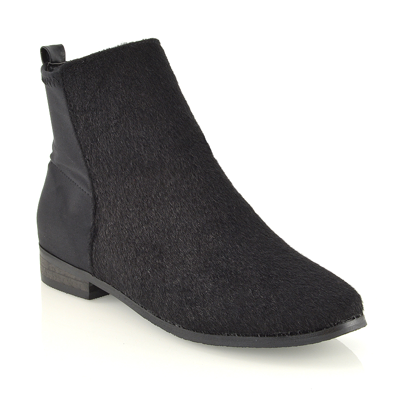 womens pull on chelsea flat heel elastic stretch booties